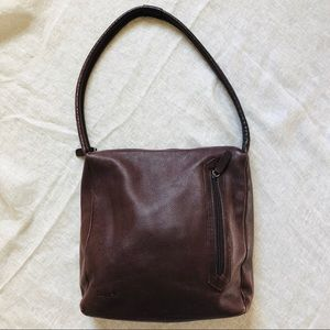 TIGNANAELLO Brown Leather Handbag Purse Shoulder